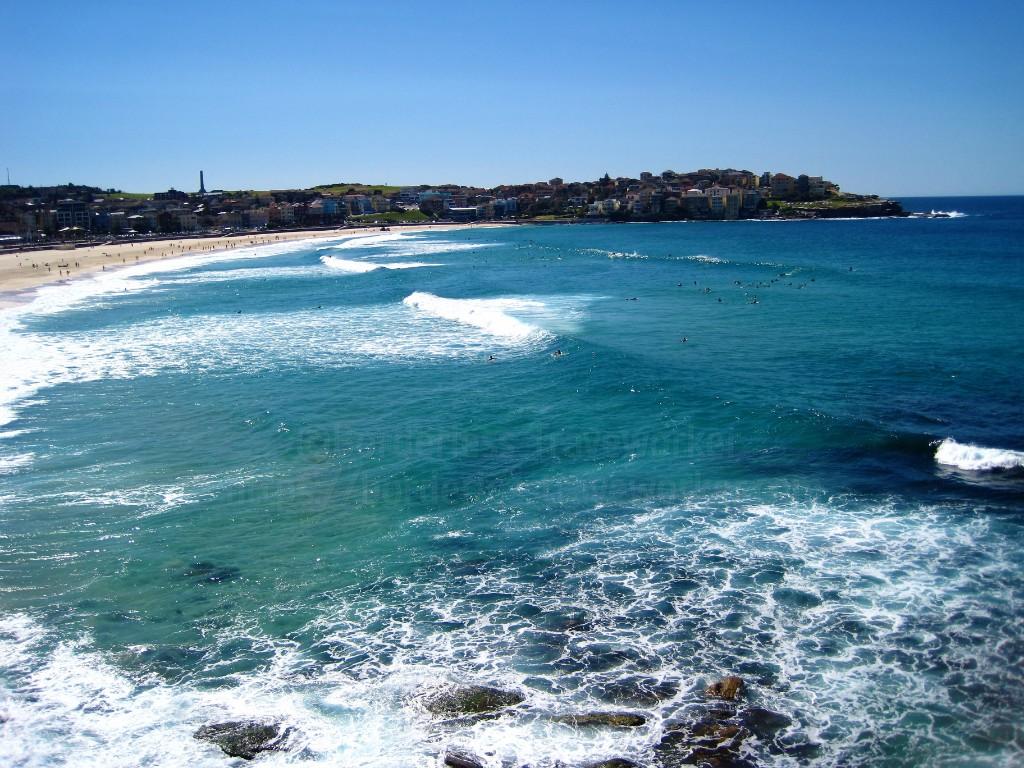 波が高い日のボンダイ・ビーチ【季節:春】