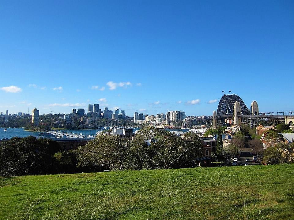 シドニー天文台がある丘の上からのノースショアの眺め